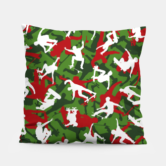 Thumbnail image of Skater Camo XMAS Pillow, Live Heroes