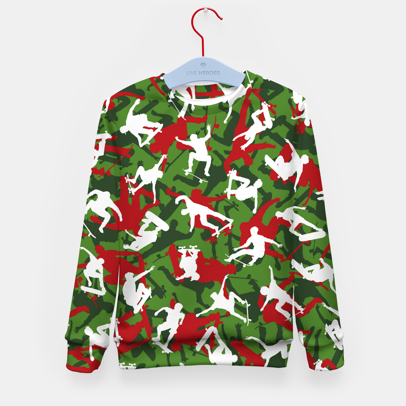 Image of Skater Camo XMAS Kid's sweater - Live Heroes