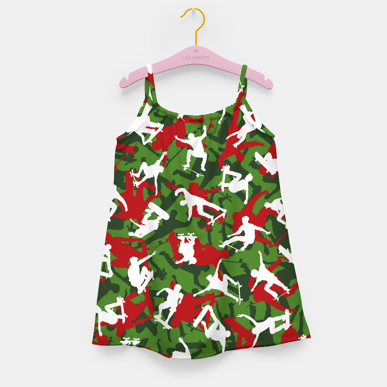 Image of Skater Camo XMAS Girl's dress - Live Heroes