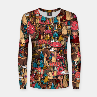 Miniature de image de Of mushrooms and autumn Women sweater, Live Heroes