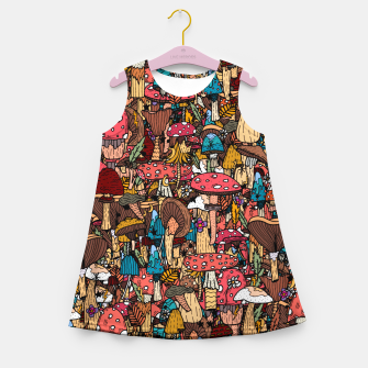 Miniature de image de Of mushrooms and autumn Girl's summer dress, Live Heroes