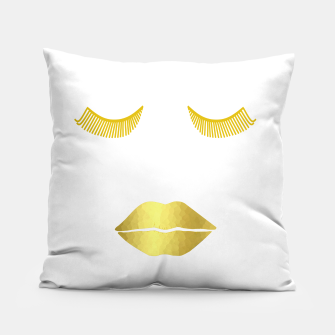 Thumbnail image of Gold Glam Face Pillow, Live Heroes