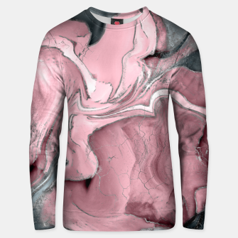 Thumbnail image of Blush rose watercolor - pastel pinks, grey and silver Unisex sweater, Live Heroes