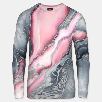 Thumbnail image of Blush rose marble - pastel pinks, grey and silver Unisex sweater, Live Heroes