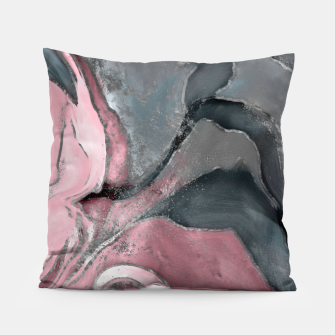 Thumbnail image of Blush rose watercolor - pastel pinks, grey and silver Pillow, Live Heroes