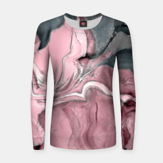 Thumbnail image of Blush rose watercolor - pastel pinks, grey and silver Women sweater, Live Heroes