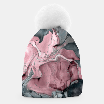 Thumbnail image of Blush rose watercolor - pastel pinks, grey and silver Beanie, Live Heroes
