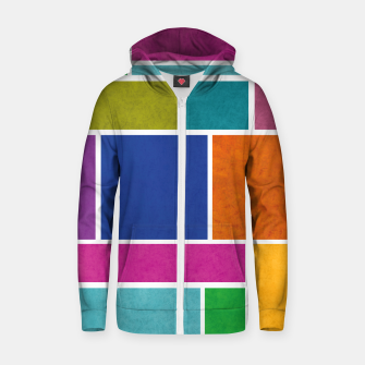 Thumbnail image of Rectangle Zip up hoodie, Live Heroes