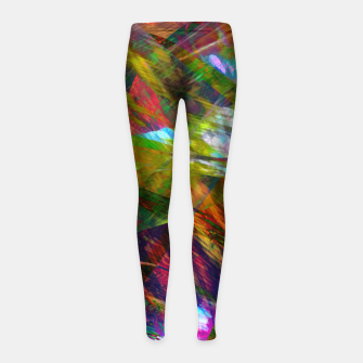 Thumbnail image of Abstraction 4 Girl's leggings, Live Heroes