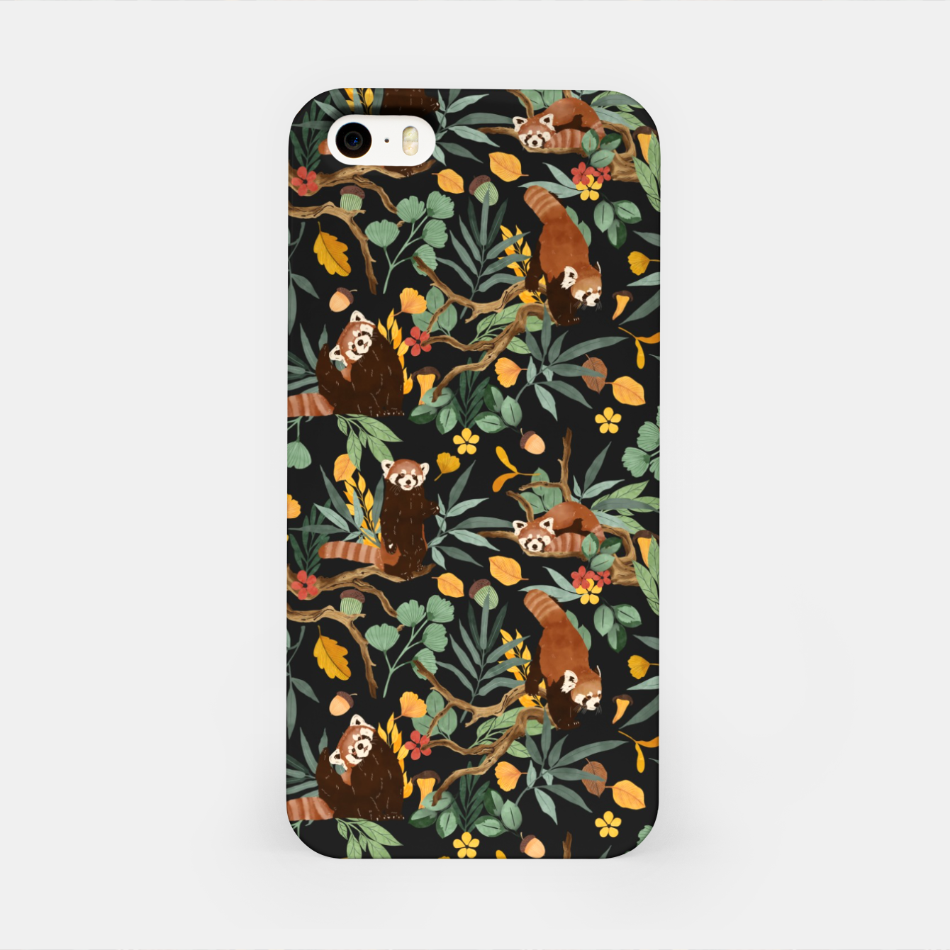 Image of Red pandas in dark wild nature Carcasa por Iphone - Live Heroes