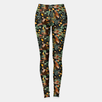 Miniatur Red pandas in dark wild nature Leggings, Live Heroes