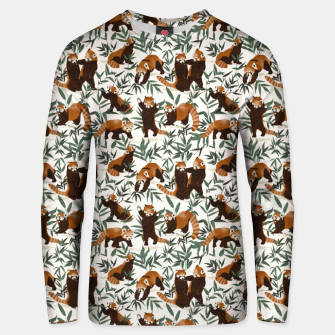 Little red pandas in nature Sudadera unisex thumbnail image