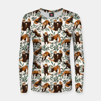 Little red pandas in nature Sudadera para mujeres thumbnail image