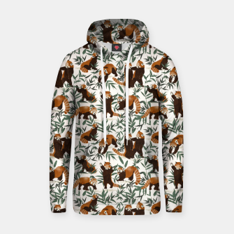 Little red pandas in nature Sudadera con capucha Bild der Miniatur
