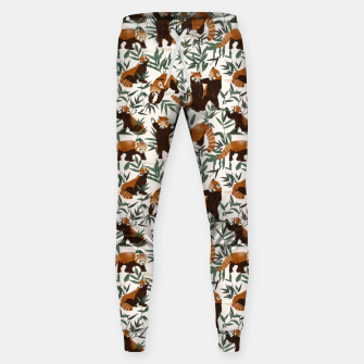 Thumbnail image of Little red pandas in nature Pantalones de chándal , Live Heroes