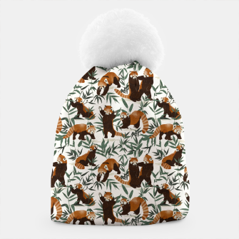 Little red pandas in nature Gorro Bild der Miniatur