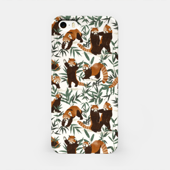 Miniature de image de Little red pandas in nature Carcasa por Iphone, Live Heroes