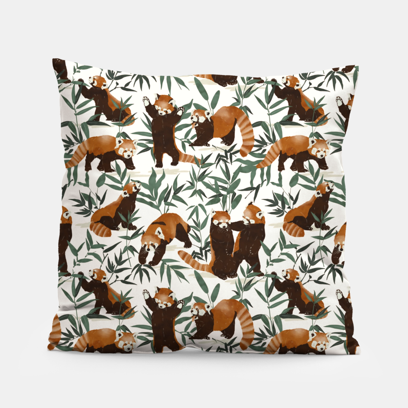 Image of Little red pandas in nature Almohada - Live Heroes