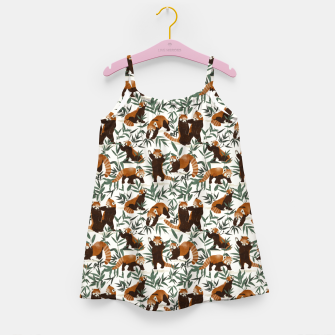 Little red pandas in nature Vestido para niñas thumbnail image