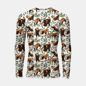 Little red pandas in nature Longsleeve rashguard Bild der Miniatur