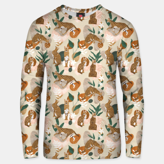 Serval cat abstract nature Sudadera unisex Bild der Miniatur