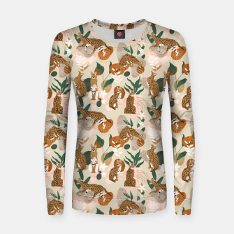 Serval cat abstract nature Sudadera para mujeres Bild der Miniatur