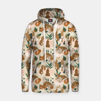 Thumbnail image of Serval cat abstract nature Sudadera con capucha, Live Heroes