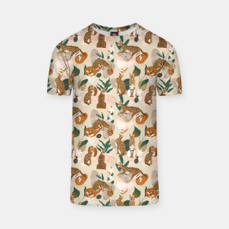 Miniatur Serval cat abstract nature Camiseta, Live Heroes