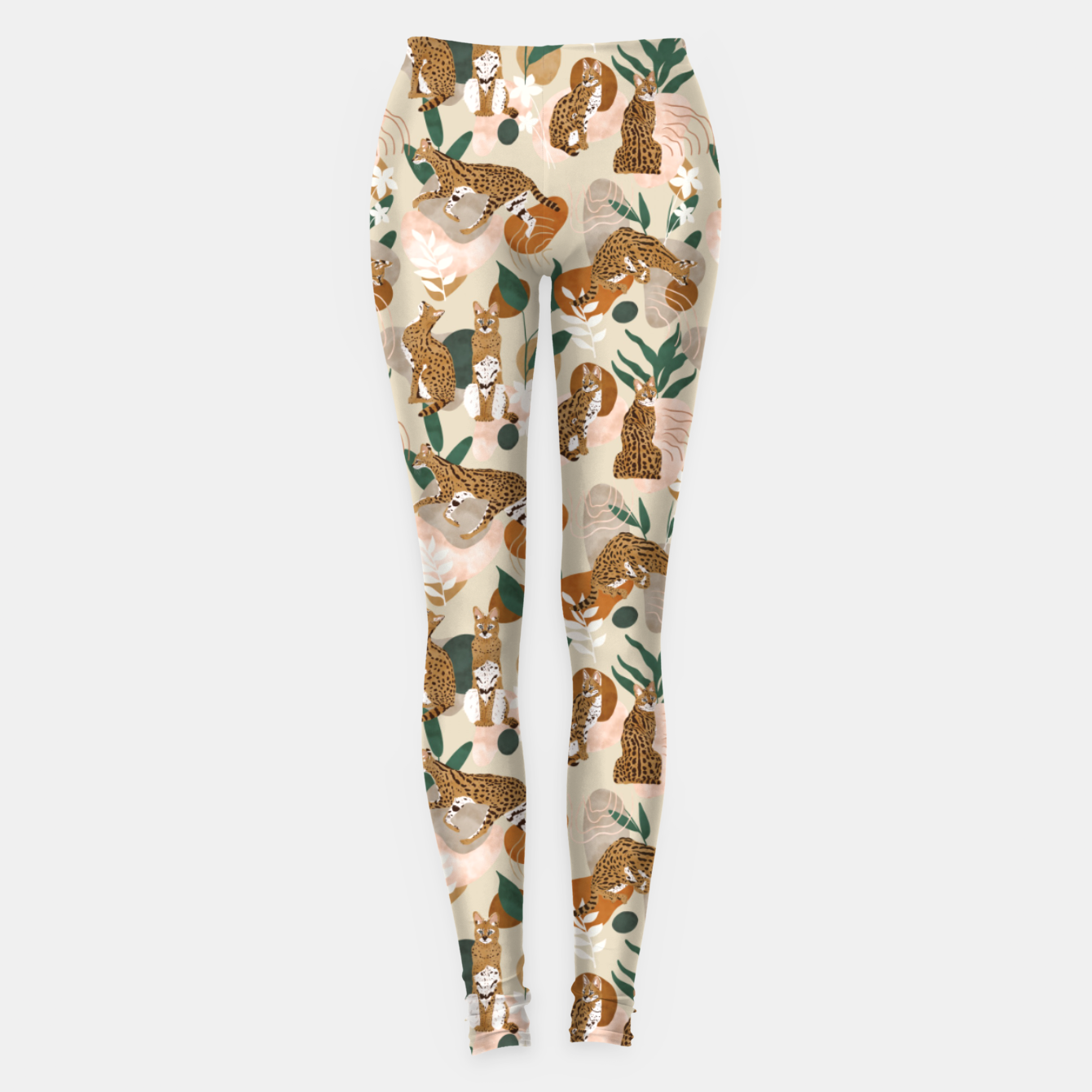 Foto Serval cat abstract nature Leggings - Live Heroes