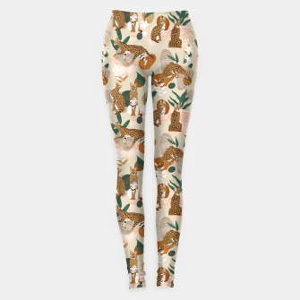 Serval cat abstract nature Leggings Bild der Miniatur