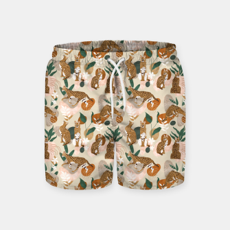 Thumbnail image of Serval cat abstract nature Pantalones de baño, Live Heroes