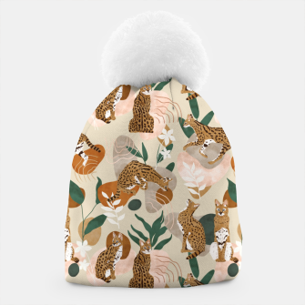 Serval cat abstract nature Gorro Bild der Miniatur