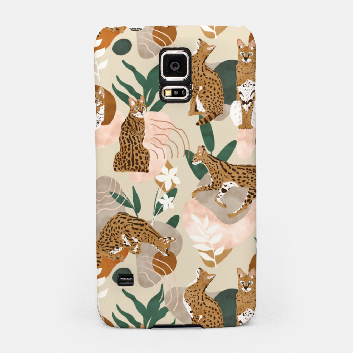 Image of Serval cat abstract nature Carcasa por Samsung - Live Heroes