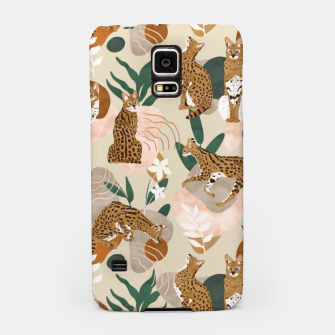 Miniatur Serval cat abstract nature Carcasa por Samsung, Live Heroes