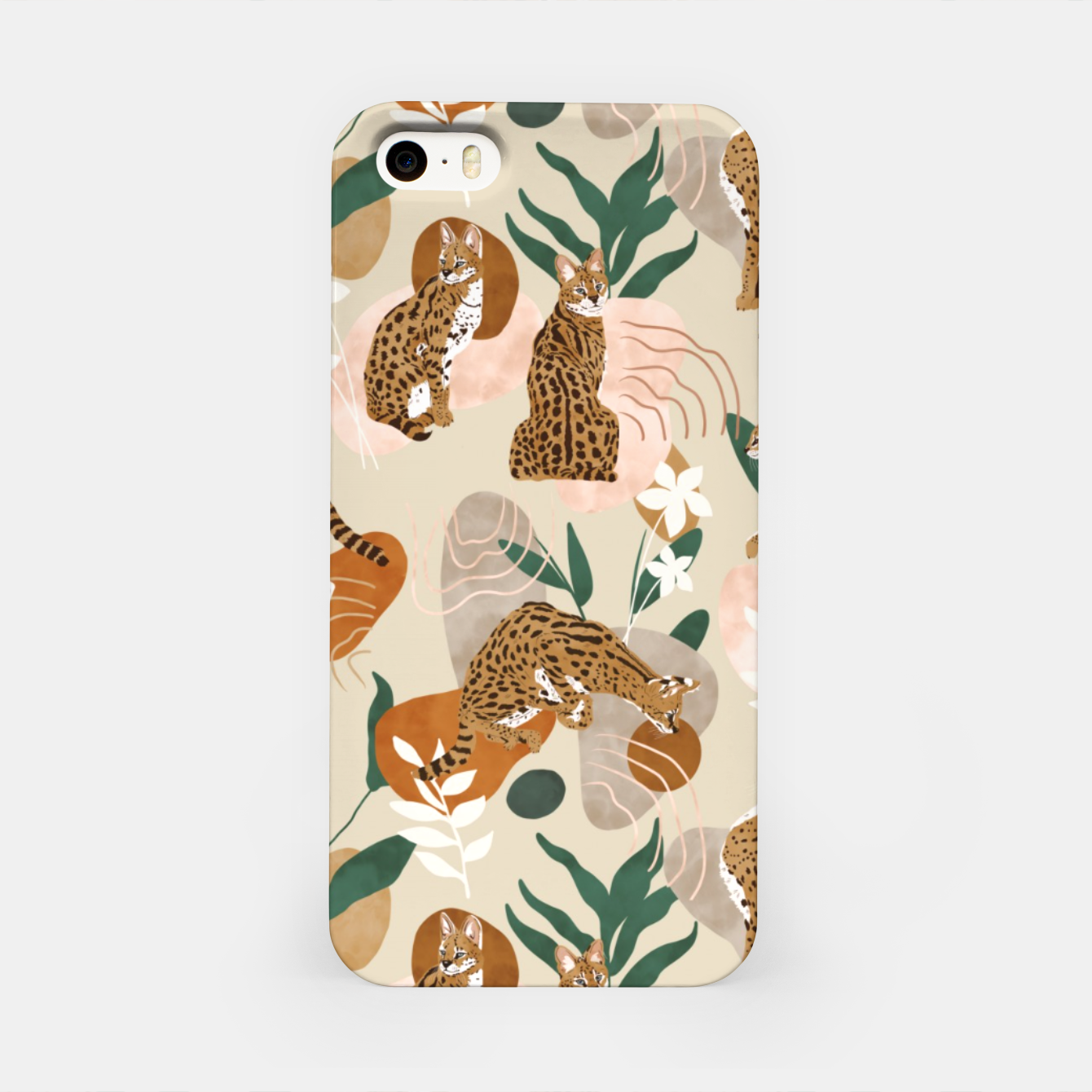 Image of Serval cat abstract nature Carcasa por Iphone - Live Heroes