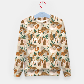 Serval cat abstract nature Sudadera para niños thumbnail image