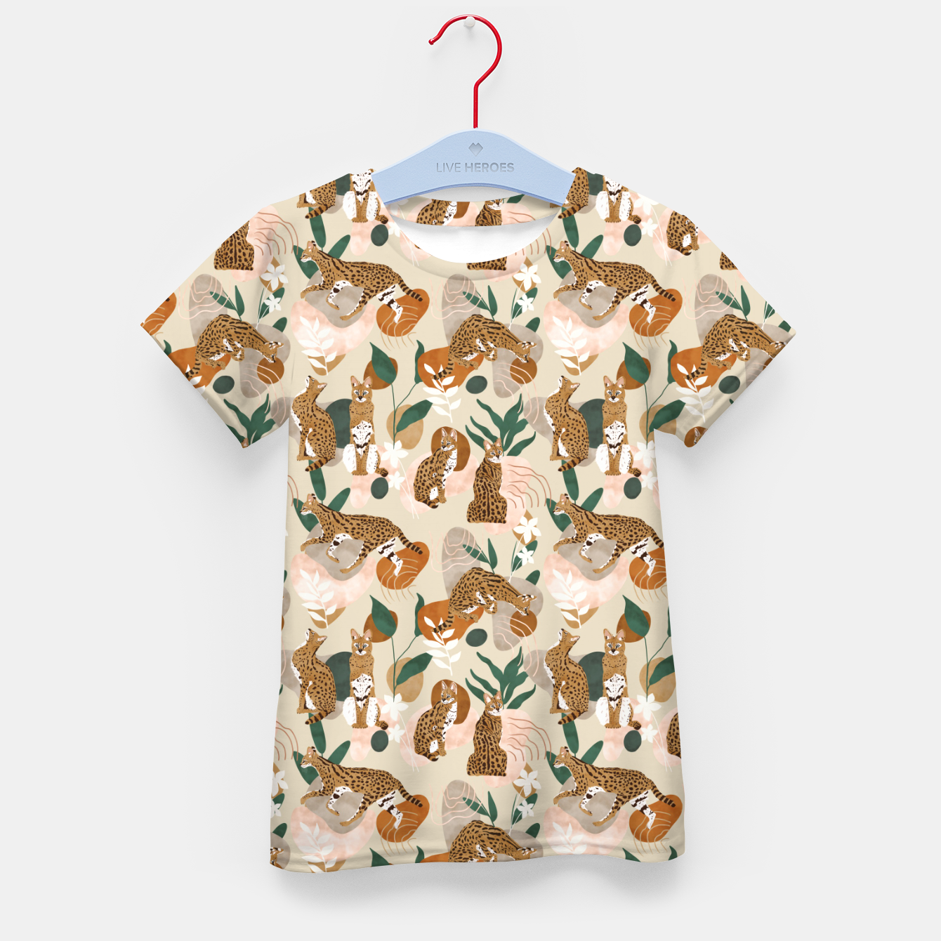 Foto Serval cat abstract nature Camiseta para niños - Live Heroes