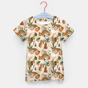 Serval cat abstract nature Camiseta para niños Bild der Miniatur