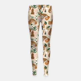 Serval cat abstract nature Leggings para niña thumbnail image