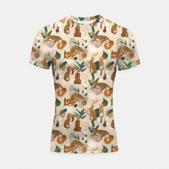Miniatur Serval cat abstract nature Shortsleeve rashguard, Live Heroes