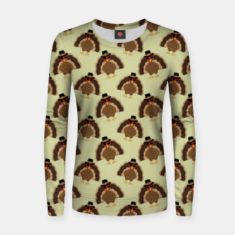 Thumbnail image of Cool Turkey with sunglasses Happy Thanksgiving pattern Women sweater, Live Heroes