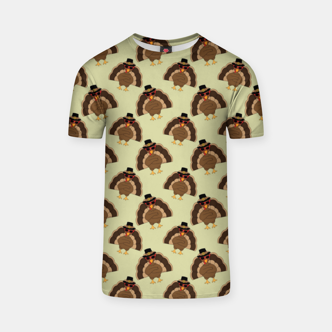 Image of Cool Turkey with sunglasses Happy Thanksgiving pattern T-shirt - Live Heroes