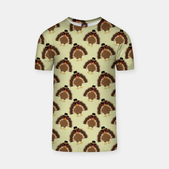 Thumbnail image of Cool Turkey with sunglasses Happy Thanksgiving pattern T-shirt, Live Heroes