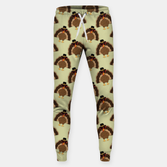 Thumbnail image of Cool Turkey with sunglasses Happy Thanksgiving pattern Sweatpants, Live Heroes