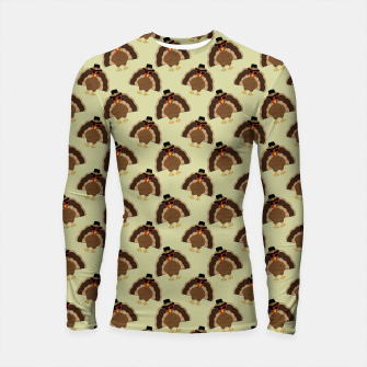 Thumbnail image of Cool Turkey with sunglasses Happy Thanksgiving pattern Longsleeve rashguard , Live Heroes