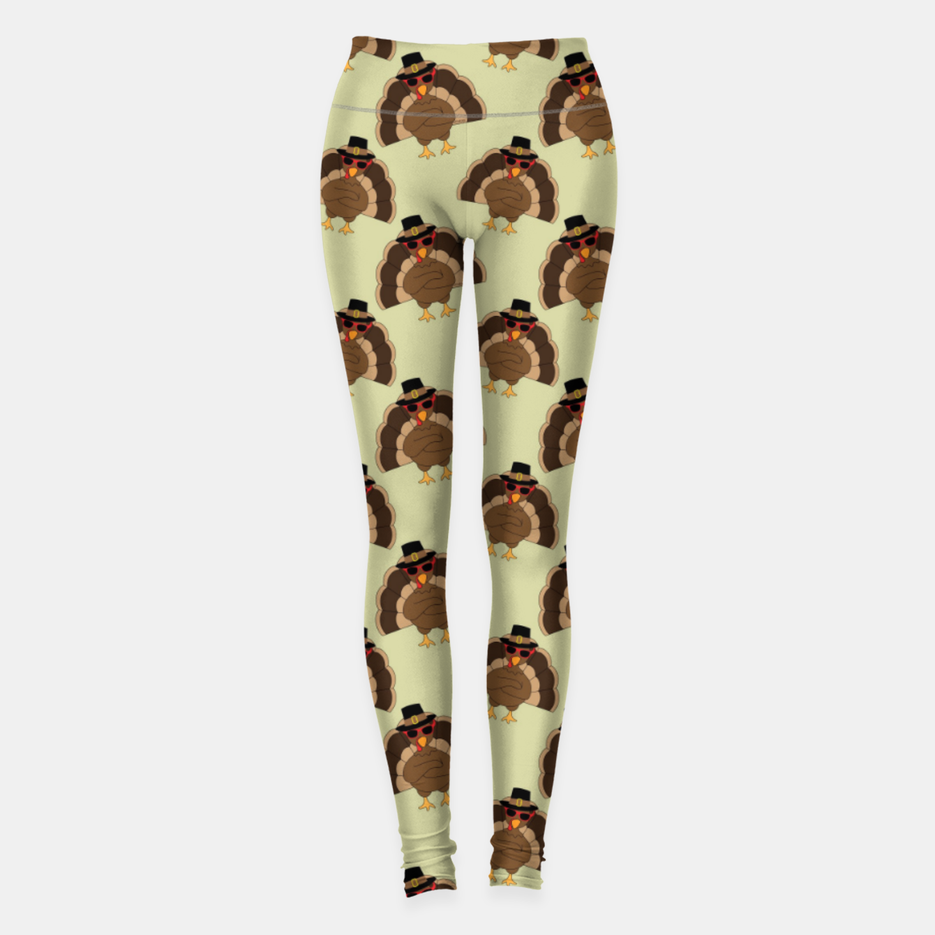 Image of Cool Turkey with sunglasses Happy Thanksgiving pattern Leggings - Live Heroes