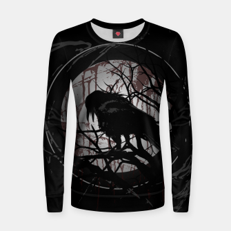 Thumbnail image of Blood Moon Raven Frauen sweatshirt, Live Heroes