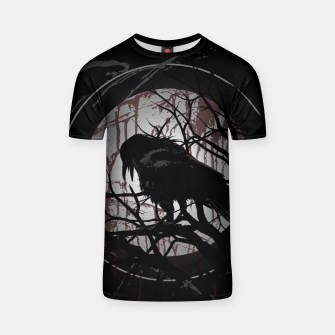 Thumbnail image of Blood Moon Raven T-Shirt, Live Heroes