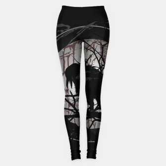 Miniatur Blood Moon Raven Leggings, Live Heroes