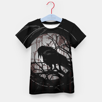 Thumbnail image of Blood Moon Raven T-Shirt für kinder, Live Heroes